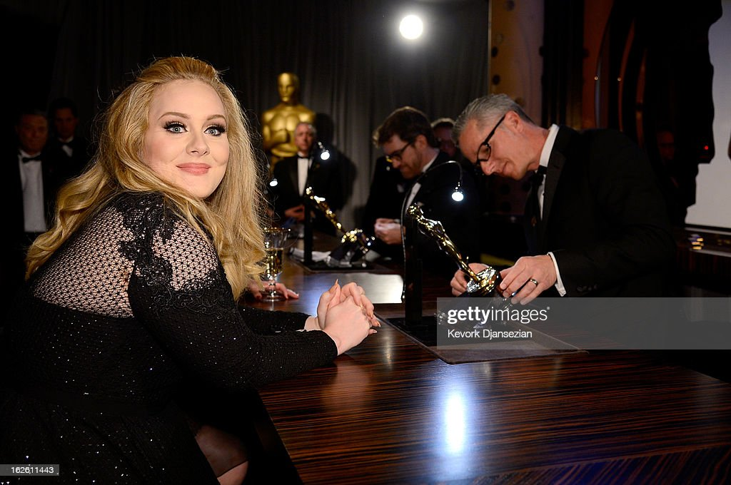 Singer Adele, winner of the Best Original Song award for 'Skyfall