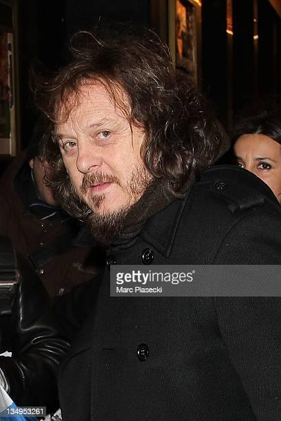 Singer Adelmo Fornaciari aka Zucchero is sighted at Le Casino de Paris on December 5 2011 in Paris France