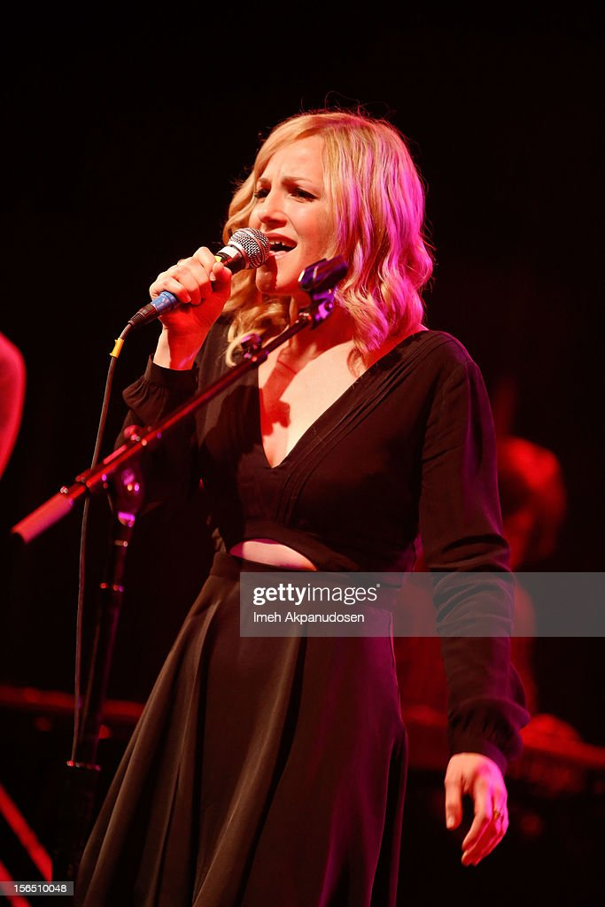 Singer Adriel Denae performs onstage singing 'Yer So Bad' at the first ever Jameson Petty Fest West at El Rey Theatre on November 15, 2012 in Los Angeles, California.