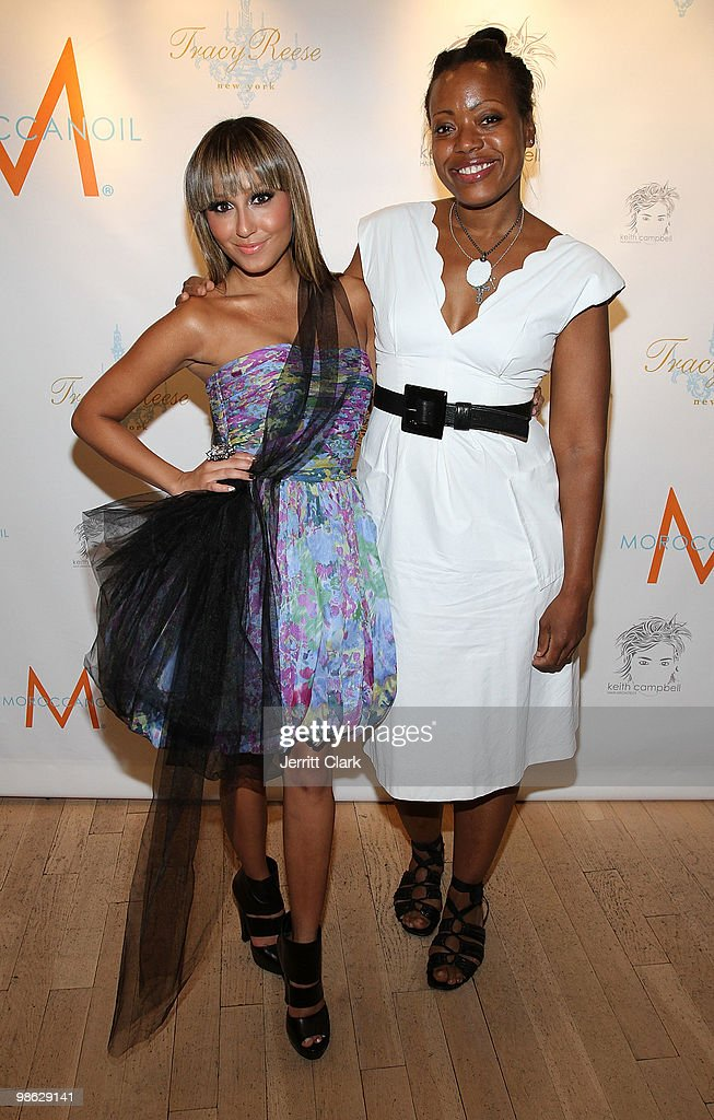 Singer Adrienne Bailon and designer Tracy Reese attend the 'Cuts Of Our Infirmities' book launch party at the Tracy Reese Boutique on April 22, 2010 in New York City.