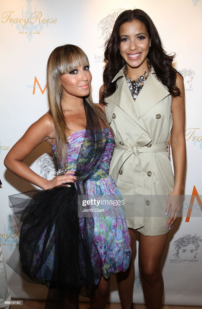 Singer Adrienne Bailon and Julissa Bermudez attend the 'Cuts Of Our Infirmities' book launch party at the Tracy Reese Boutique on April 22, 2010 in New York City.