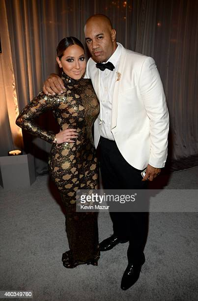 Singer Adrienne Bailon and VP Roc Nation Lenny Santiago attends The Inaugural Diamond Ball presented by Rihanna and The Clara Lionel Foundation at...