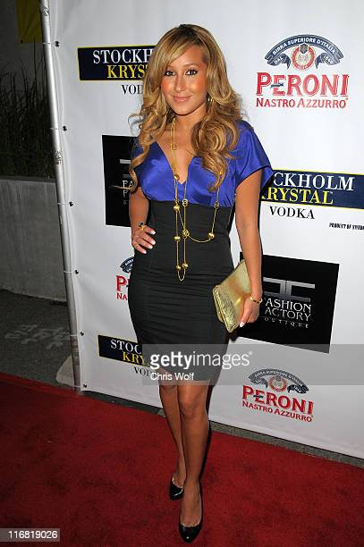 Singer Adrienne Bailon at Fashion Factory Boutique on May 6 2008 in West Hollywood California