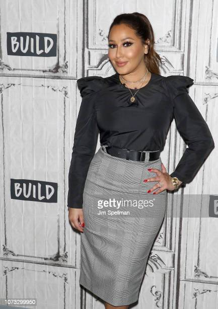 Singer Adrienne Bailon attends the Build Brunch to discuss XIXI Jewelry Line at Build Studio on December 14 2018 in New York City