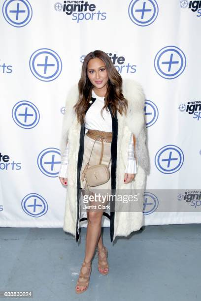 Singer Adrienne Bailon attends Turner Ignite Sports Luxury Lounge on February 4 2017 in Houston Texas