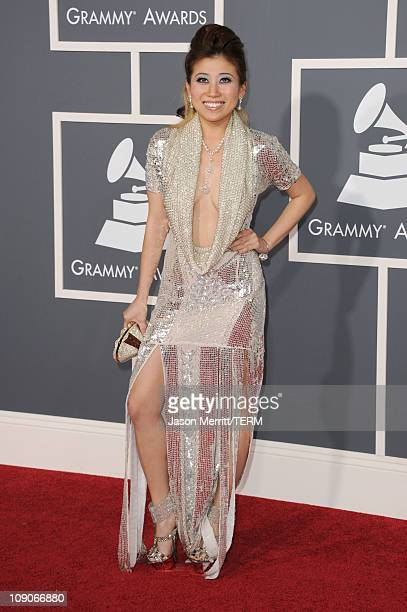 Singer Adrienne Lau arrives at The 53rd Annual GRAMMY Awards held at Staples Center on February 13 2011 in Los Angeles California