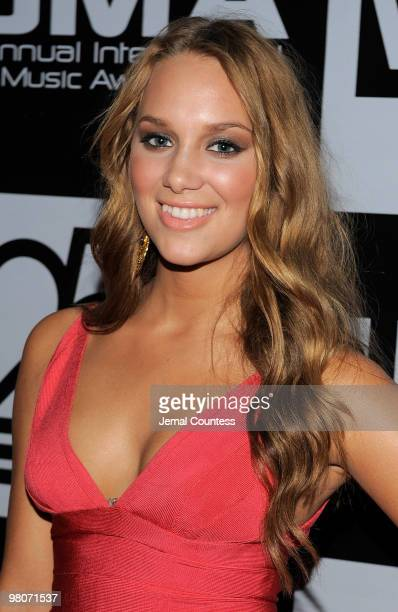 Singer Agnes arrives at The International Dance Music Awards at The Fillmore Theater during the 2010 Winter Music Conference on March 25 2010 in...