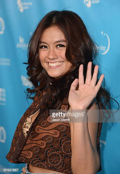 Singer Agnes Monica joins mPowering Action a global mobile youth movement at Grammy Week launch featuring performances by Timbaland and Avicii at The...