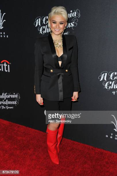 Singer Agnez Mo attends A California Christmas at The Grove Presented by Citi on November 12 2017 in Los Angeles California