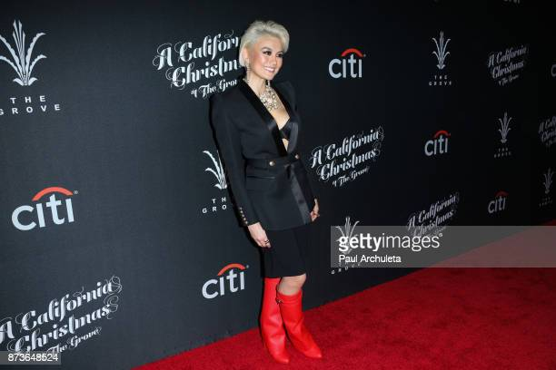 Singer Agnez Mo attends the California Christmas At The Grove at the Grove on November 12 2017 in Los Angeles California