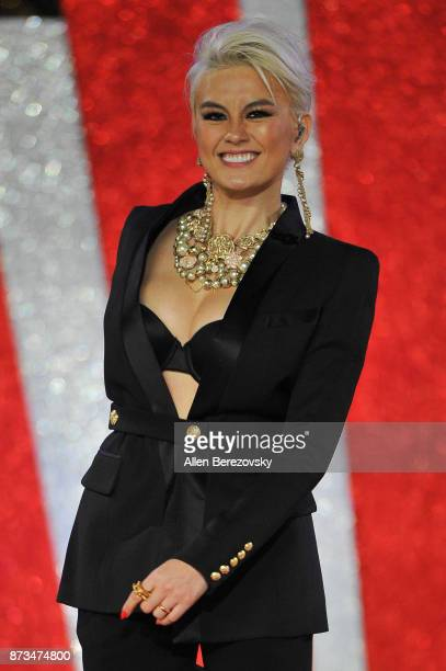 Singer Agnez Mo performs during A California Christmas at The Grove Presented by Citi on November 12 2017 in Los Angeles California