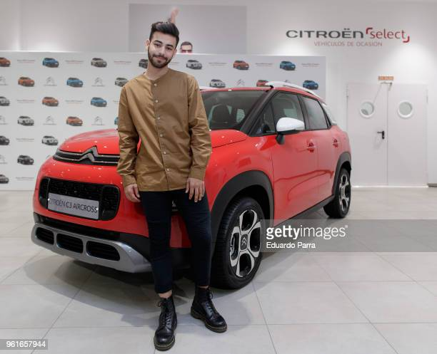 Singer Agoney attends the Citroen photocall at Citroen store on May 23 2018 in Madrid Spain