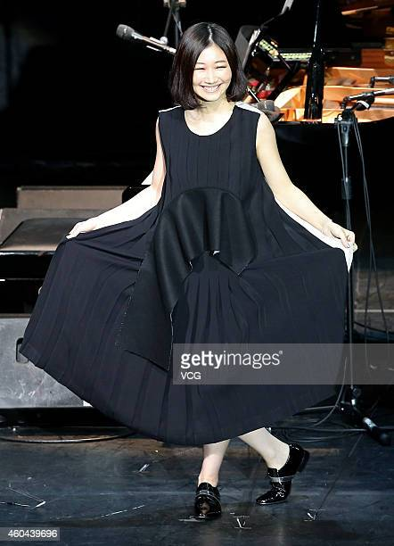 Singer Ai Otsuka performs live in concert on December 13 2014 in Taipei Taiwan of China