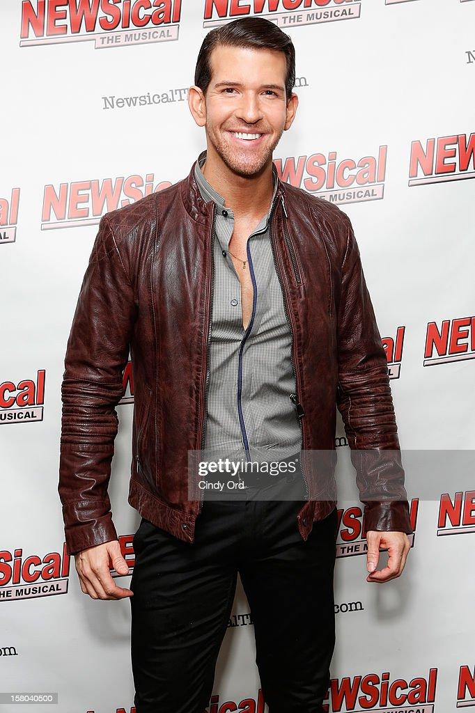 Singer Aiden Leslie attends Cheri Oteri's debut in 'Newsical The Musical' on December 9, 2012 in New York City.