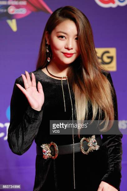 Singer Ailee attends 2017 Mnet Asian Music Awards at Asia WorldExpo on December 1 2017 in Hong Kong Hong Kong