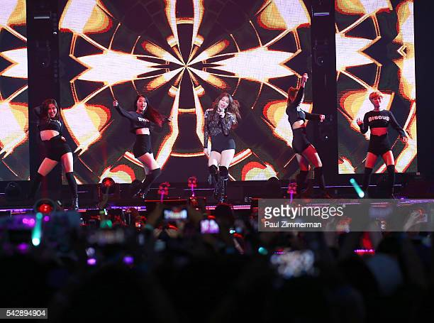 Singer Ailee peforms onstage at the KCON 2016 at Prudential Center on June 24 2016 in Newark New Jersey