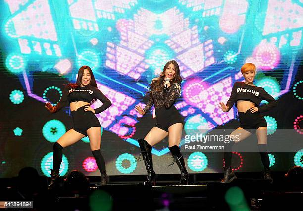 Singer Ailee performs onstage at the KCON 2016 at Prudential Center on June 24 2016 in Newark New Jersey
