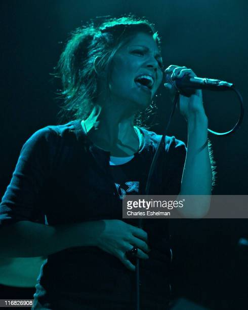 Singer Aimee Allen performs at The Fillmore at Irving Plaza on August 7 2009 in New York City
