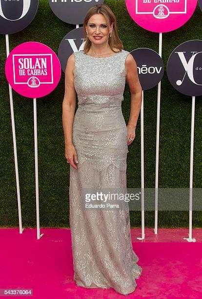 Singer Ainhoa Arteta attends the 'Yo Dona' international awards at La Quinta de la Munoza on June 27 2016 in Madrid Spain