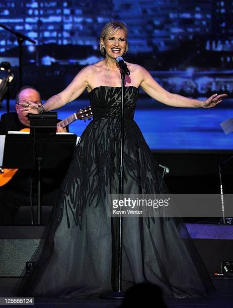Singer Ainhoa Arteta onstage at the 2010 Person of the Year honoring Placido Domingo at the Mandalay Bay Events Center inside the Mandalay Bay Resort...
