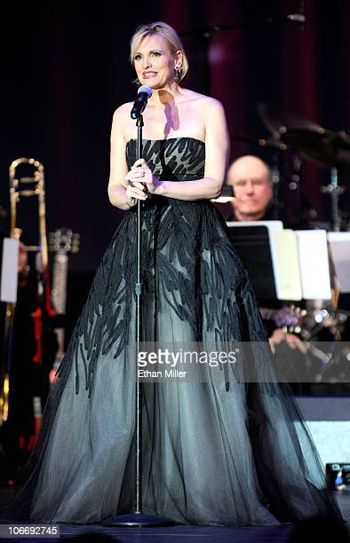 Singer Ainoa Arteta performs onstage during the 2010 Person of the Year honoring Placido Domingo at the Mandalay Bay Events Center inside the...