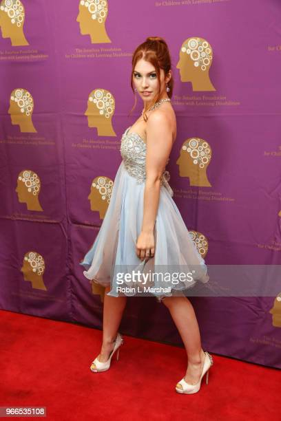 Singer Ainsley Ross attends The Jonathan Foundation's 5th Annual Spring Fundraiser at Cathedral of Our Lady of Angels on June 2 2018 in Los Angeles...