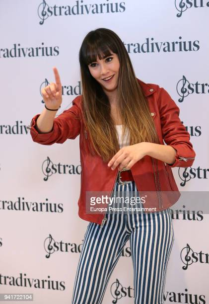 Singer Aitana Ocana is presented as the new image for Stradivarius on April 3 2018 in Madrid Spain