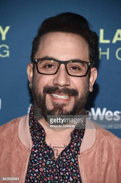 Singer AJ McLean arrives at the 2018 LA Family Housing Awards at The Lot in West Hollywood on April 5 2018 in West Hollywood California