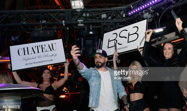 Singer AJ McLean of the Backstreet Boys attends the after party of the debut of the group's residency 'Larger Than Life' at the Chateau Nightclub...