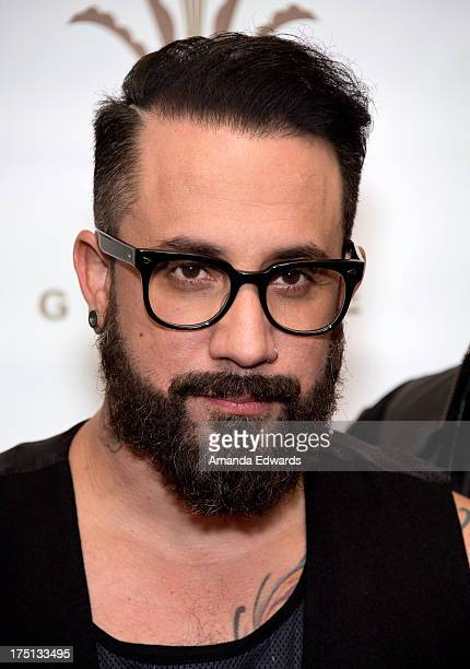 Singer AJ McLean of the band Backstreet Boys poses backstage before performing at the 2013 Grove Summer Concert Series at The Grove on July 31 2013...