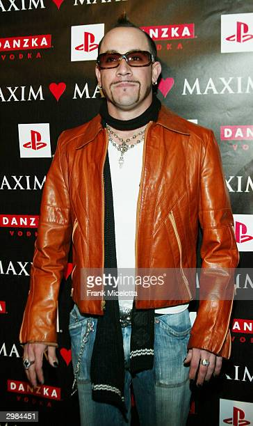 Singer AJ McLean of the band the Backstreet Boys attends the Maxim NBA party on February 14 2004 at PaPaz Nightclub in Hollywood California