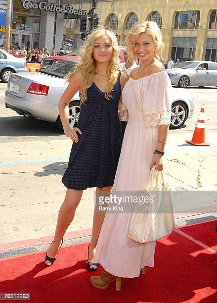 Singer AJ Michalka and singer Aly Michalka arrive at the Nancy Drew World Premiere held at Grauman's Chinese Theatre on June 9 2007 in Hollywood...