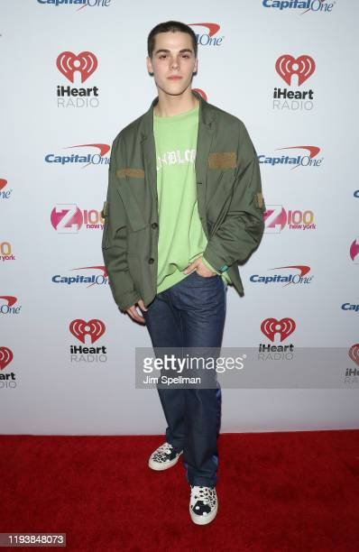 Singer AJ Mitchell arrives at iHeartRadio's Z100 Jingle Ball 2019 at Madison Square Garden on December 13, 2019 in New York City.