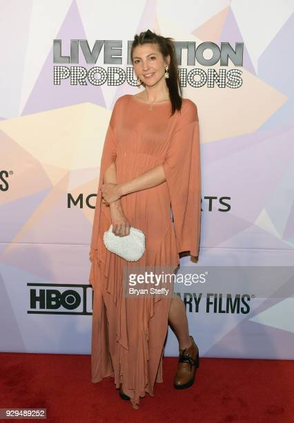 Singer Aja Volkman attends the screening of the HBO Documentary film 'BELIEVER' at KA Theatre at MGM Grand Hotel Casino on March 8 2018 in Las Vegas...