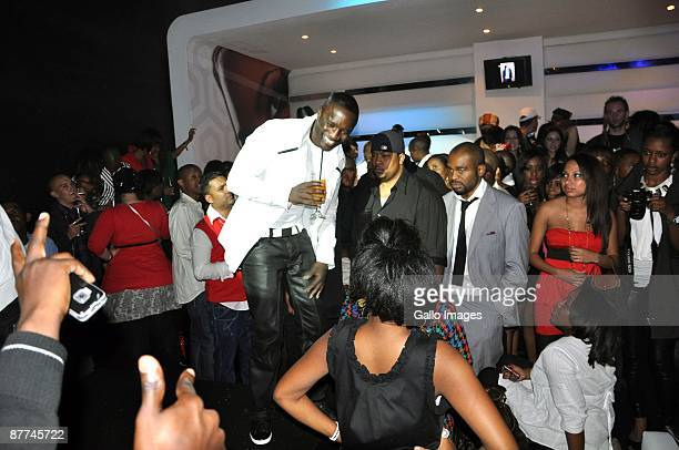 US RB singer Akon made a surprise appearance at the night club Inc in Braamfontein on May 14 2009 in Johannesburg South Africa He is currently...