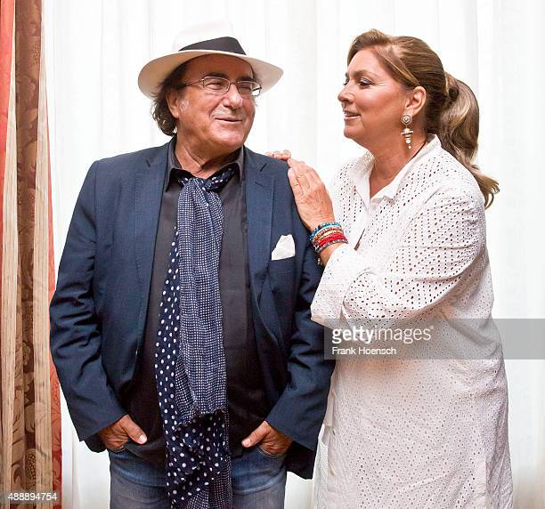 Singer Al Bano and Romina Power poses at the Maritim hotel on September 18 2014 in Berlin Germany
