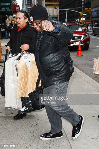 "Singer Al Green enters the ""Late Show With David Letterman"" taping at the Ed Sullivan Theater on December 8, 2014 in New York City."