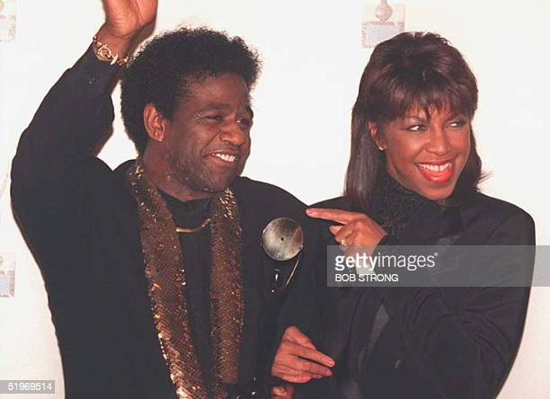 Singer Al Green is joined by Natalie Cole after he was inducted into the Rock and Rock Hall of Fame in New York 12 January. Green was inducted with...