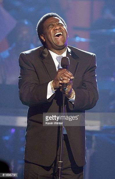Singer Al Green performs during the 2008 BET Awards held at the Shrine Auditorium on June 24, 2008 in Los Angeles, California.