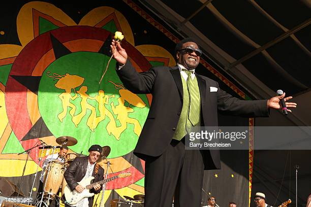 Singer Al Green performs during the 2012 New Orleans Jazz Heritage Festival at the Fair Grounds Race Course on April 29 2012 in New Orleans Louisiana