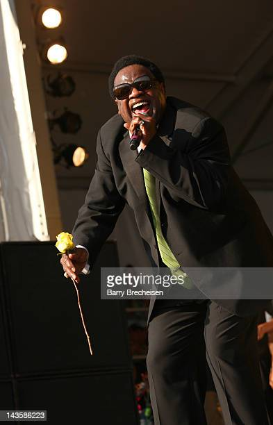 Singer Al Green performs during the 2012 New Orleans Jazz & Heritage Festival at the Fair Grounds Race Course on April 29, 2012 in New Orleans,...