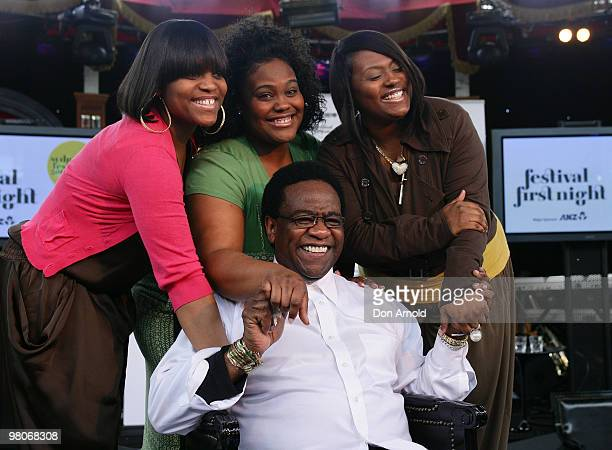 Singer Al Green sits amongst his daughters Ruby, Alba and Cora at the Festival First Night photo call at The Famous Spiegeltent on January 8, 2010 in...