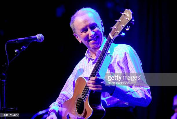 Singer Al Stewart performs onstage during the 'Year of the Cat' 40th anniversary tour at The Canyon Club on January 20 2018 in Agoura Hills California