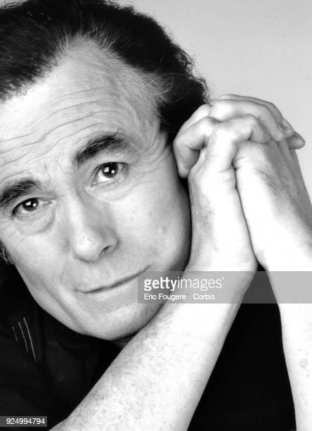 Singer Alain Barriere poses during a portrait session in Paris France on