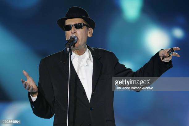 Singer Alain Bashung performs on stage during the Les Victoires de la Musique at the Le Zenith on February 28 2009 in Paris France