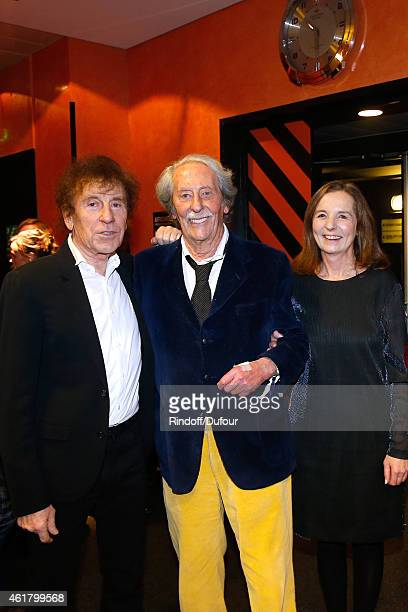 Singer Alain Souchon Actor Jean Rochefort and his wife Francoise attend the '10th Charity Gala Against Alzheimer's Disease Two Generations sing for...