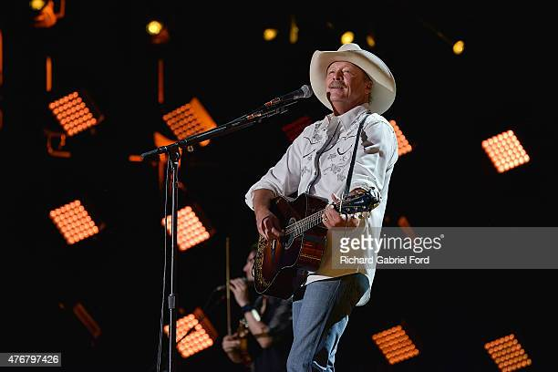 Singer Alan Jackson performs onstage during the 2015 CMA Festival on June 11 2015 in Nashville Tennessee