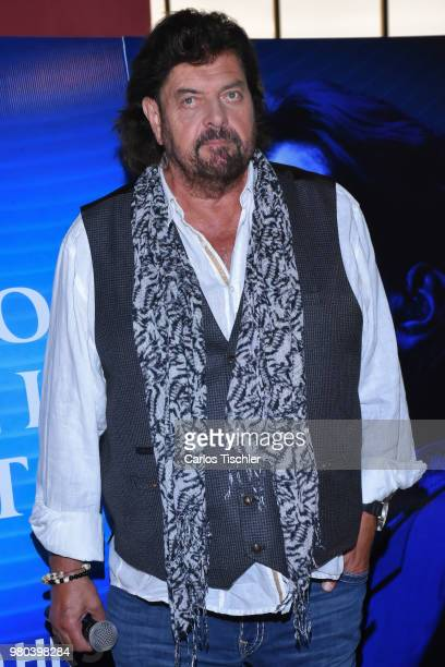 Singer Alan Parsons poses for photos during the press conference to announce the Symphonic Concert next June 20th at Sevilla Palace Hotel on June 19...