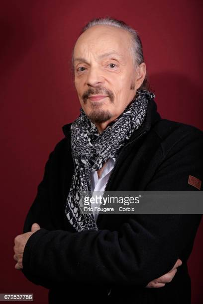 Singer Alan Stivell poses during a portrait session in Paris France on