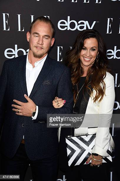 Singer Alanis Morissette and husband Mario Treadway arrives at the 6th Annual ELLE Women In Music Celebration Presented By eBayat Boulevard3 on May...